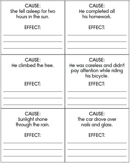 All Worksheets cause and effect worksheets : Cause and effect writing rubric & Essay writer funnyjunk. Buy ...