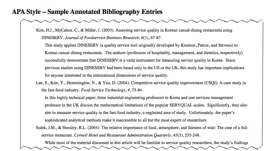 annotated bibliography chicago turabian style