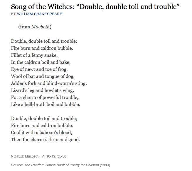 Double, Double Toil and Trouble | Hedgehog's Quill