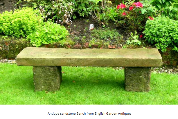 English Garden Antiques stone bench