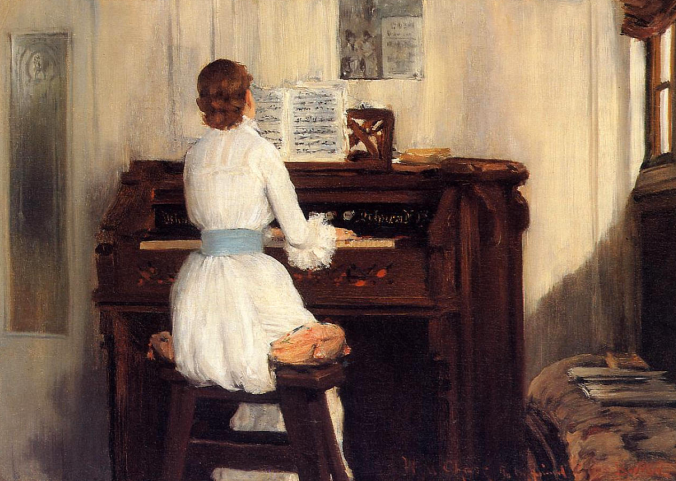 Mrs. Chase Playing the Piano, 1883