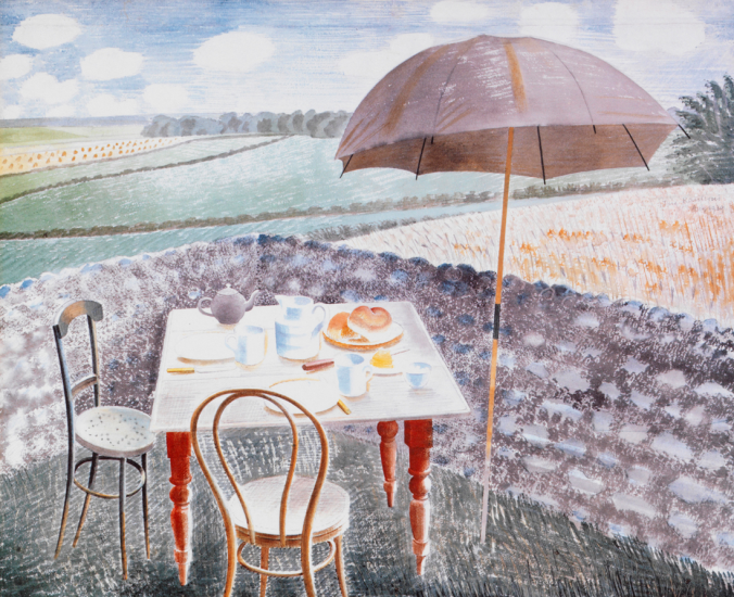 tea at Furlongs, watercolour 1939.png