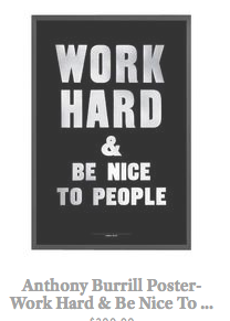 Anthony Burrill- Work Hard