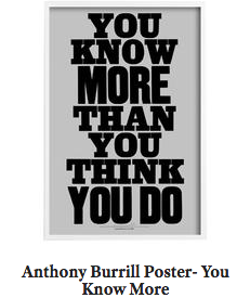 Anthony Burrill- You Know More