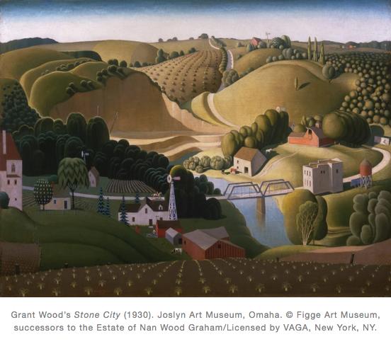 Stone City 1930 Grant Wood
