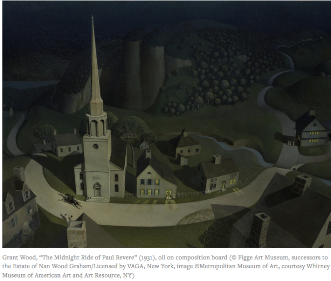 The Midnight Ride of Paul Revere 1931 Grant Wood